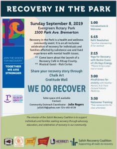 Recovery in the Park 2019